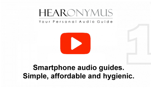 The Hearonymus audio guide app for mobile phone introduces itself