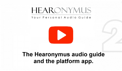 About Hearonymus mobile phone audio guide & the app platform