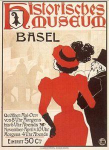 Historisches Museum Basel in der Barfüsserkirche, Plakat zur Eröffnung im Jahr 1894