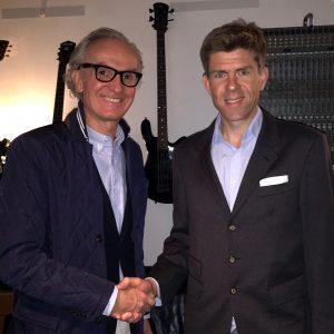 Hearonymus Gründer Peter Grundmann & Burg Clam Besitzer Carl Philip Clam bei den Aufnahmen für den Audioguide im Tonstudio