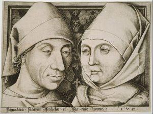 Israhel van Meckenem Selbstportrait zu sehen im Stadtmuseum Bocholt