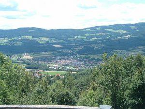 Aussicht auf das Pöllauer Tal vom Pöllauberg