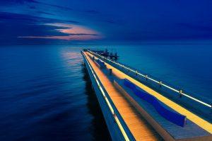 Seebrücke von Heiligenhafen an der Ostsee